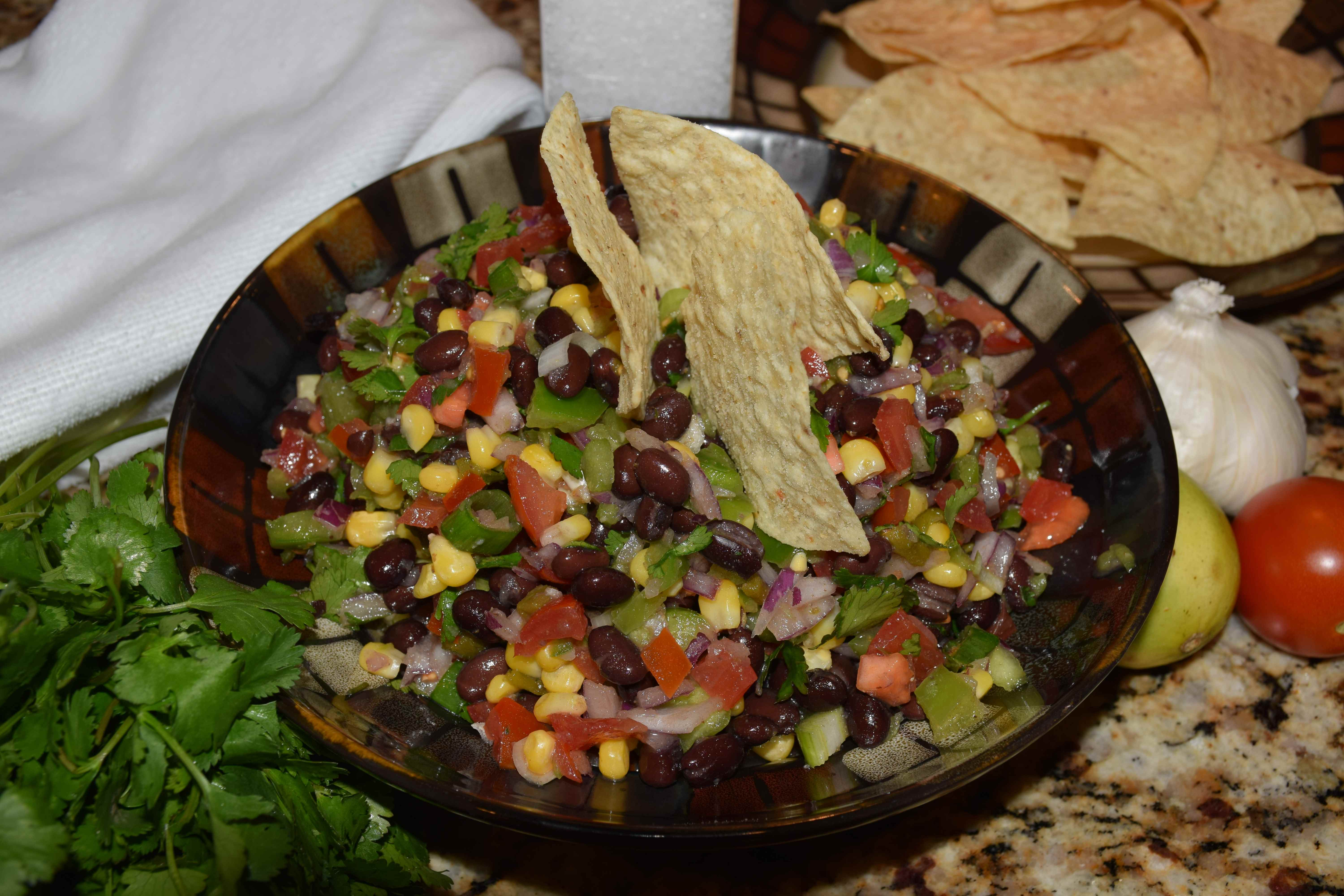 Black Bean and Green Chile Salsa