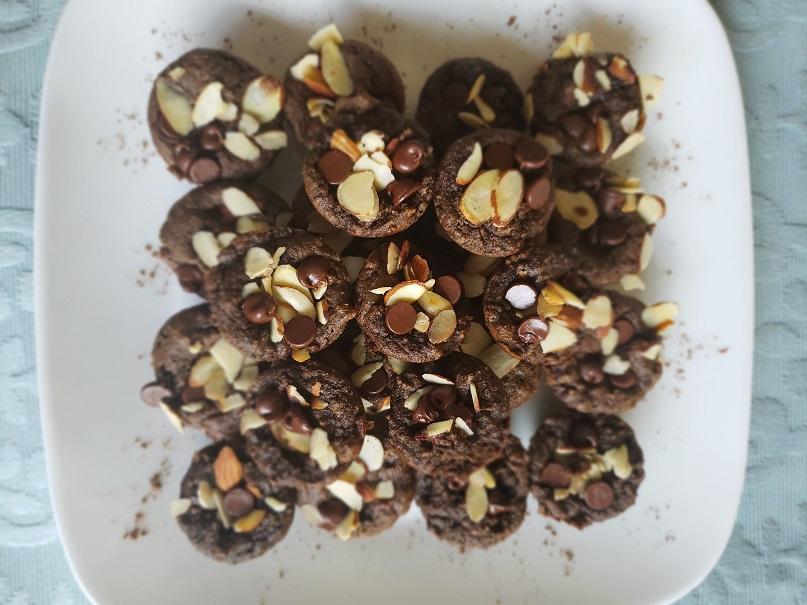 Chocolate Almond Mini Muffins