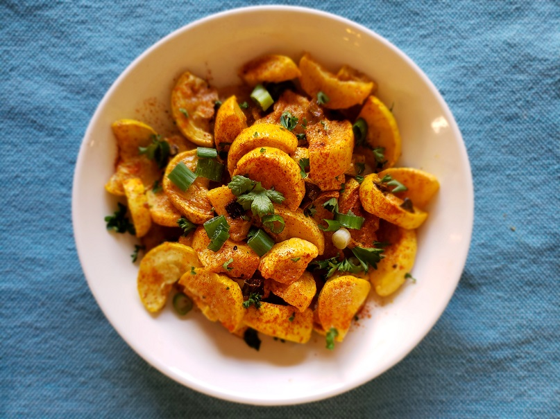 Lemon Garlic Roasted Yellow Squash