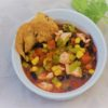 Green chile chicken soup