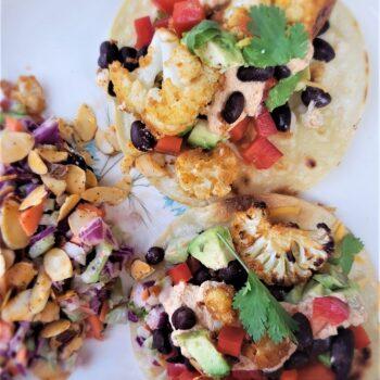 Cauliflower and Black Bean Tacos